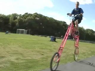 pink tall bike